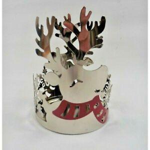 Yankee Candle Weihnachten Winter Silber Rentier Glas Halter