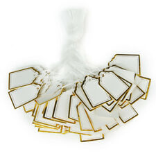 500x Jewelry Price Tag Paper Tie String Hang Label Watch Clothing Display Tags
