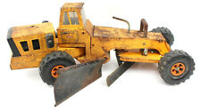 Vintage Mighty Tonka Road Grader Snow Plow Patina