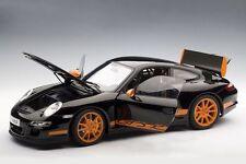 AUTOART PORSCHE 997 GT3 RS BLACK W/ ORANGE STRIPES 1:12*Back in Stock*LARGE CAR