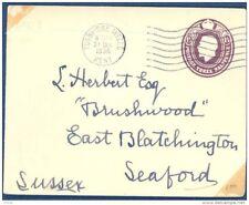 GB, 1918 envelope 1½d brown, light horizontal crease (D)