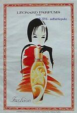 PUBLICITE LEONARD PARFUMS FASHION DE 1993 FRENCH AD PUB VINTAGE ART DECO