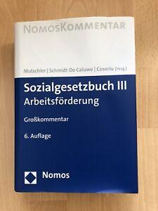 Sozialgesetzbuch III Arbeitsförderung Grosskommentar 6. Auflage Neu
