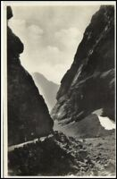 Norwegen Norge ~1930 Norangsdalen Berg Strasse Norway Vintage Postcard