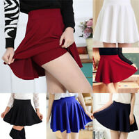 Women's Fashion Skirts Mini Skirt Ladies Spring Summer High Waist Pleated;Skirts