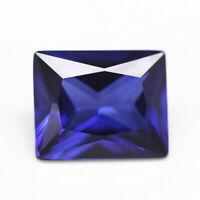 Natural Emerald Blue Sapphire 5.26ct 8x10mm Faceted Cut AAAAA VVS Loose Gemstone