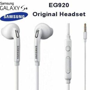 Genuine Samsung Handsfree Headphones Earphones Earbud & Mic EO-EG920BW White