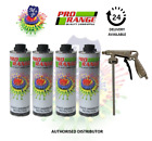 Pro Range Car Body Schutz Black x 4 Underseal 1 Litre Coating + Applicator Gun