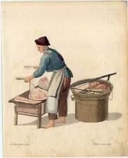 Metzger-Fleischer-China-Chinese Kupferstich Dadley 1800 Ethnologie