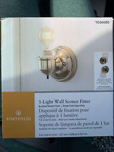 Portfolio 1-Light Wall Sconce Fitter Brushed Nickel #1026680