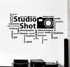 Vinyl Wall Decal Photo Studio Art Photographer Words Stickers (ig4728)
