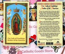 Our Lady of Guadalupe Mother of the Americas - Laminated  Holy Card