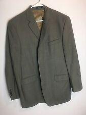 Calvin Klein Mens Blazer Suit Jacket 100% Wool Olive Green Measurments in photos
