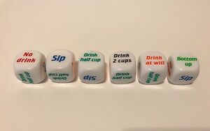 Dice Drinking Game Fun Party Bachelor Novelty Adult Gift Bar Shot 24 LOT USA