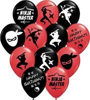 "30 - Ninja Master Party Balloons - 12"" Latex Balloons for Ninja Themed Parties!"