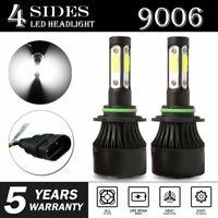 pair 4-sides LED Headlight Kit 9006 HB4 9012 2400W 6000K 360000LM Hi/low Bulbs