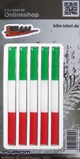 Aufkleber 3D Länder-Flaggen Trikolore - Italien - mit Chromrand - 300115