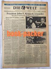 DIE WELT (23.11.1963): Präsident John F. Kennedy ermordet