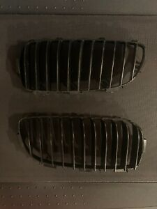 2014 2015 2016 BMW 4-Series Front Grille Pair Black OEM From an M-Sport