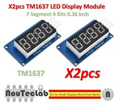 2pcs TM1637 Red Anode Digital Tube LED Module & Clock 7 Segment 4 Bits 0.36 Inch