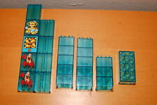 Lego Duplo Lot of 23 Clear Translucent Blue Ice Water Brick Blocks Assorted Rare
