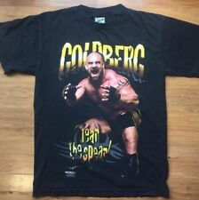 Men's Vintage 1998 WCW Goldberg Short Sleeved Black Graphic T-Shirt Medium