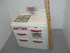 MARX Vintage 1950s LUMAR METAL/STEEL TOY STOVE Oven Range