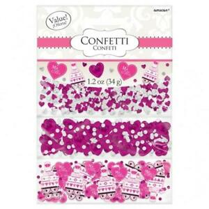 MR & MRS Confetti TRIPLE PACK Wedding Glitter Table Decorations Pink silver!