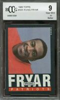 1985 topps #325 IRVING FRYAR new england patriots rookie card BGS BCCG 9