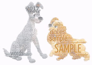 word art picture personalised gift present keepsake lady and the tramp