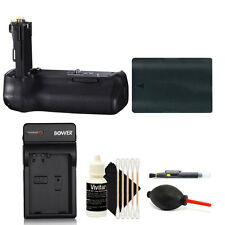 Deluxe Power Battery Grip For Canon 70D 80D Camera + LP-E6 Battery & Charger Kit