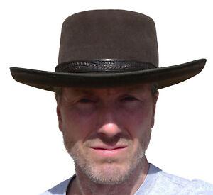 CLINT EASTWOOD Western Cowboy Hat - Rabbit Fur - Leather Hatband - Great Gift