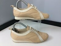 Celine Beige Leather Trainers Sneakers Size 36 Uk 3