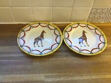 More details for royal stafford circus giraffe desert plates x2 - brand new.