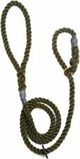 Outhwaites Gun Dog Rope Slip Lead Olive 150cm x 12mm Leads Harnesses BN