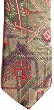 """Bugle Boy Men's Skinny Polyester/Rayon Tie 58"""" X 2.5"""" Multi-Color Abstract"""