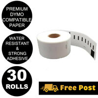 30 Rolls Compatible Dymo 99010 Labels 28mm x 89mm Labelwriter 450 PP500