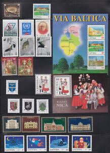 Latvia mint stamps - Full year 1995