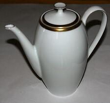 Arzberg Caraffa Caffè, Bianco, ORO-NERO gemusterter bordo no. 3106, Porcellana