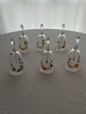 Vintage Avon Clear Glass Bells Lot of 6