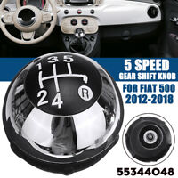 5 Marce Pomello Cambio Manopola Manuale 55344048 Per Fiat 500 Dal 2012 Al 2018