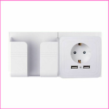 Dual USB 2100mA Wall Charger Adapter EU Electrical Plug Port Socket Power Outlet