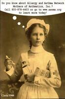 POSTCARD- NURSE NELLY- ALLERGY & ASTHMA NETWORK- MOTHERS OF ASTHMATICS  BK20