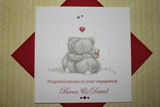 Handmade Personalised Me To You Tatty Teddy Engagement Card