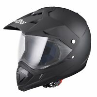 DOT Full Face Motorcycle Helmet Dirt Bike Motocross Motorbike Racing PC Visor M