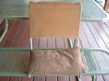 Vintage Boat Cushion L J Thompson Canvas & Steel Chair Fishing Boat Chair rare