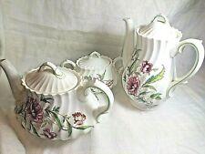 Porcelana Mikasa Clovelly Tetera de color blanco con dise/ño de lunares y flores