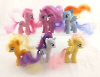 "My Little Pony G4 FiM Mane 6 Lot 3"" Brushables Twilight Sparkle Pinkie Rainbow+"