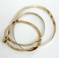 Gold plated sterling silver Herring bone flat chain with lobster clasp Lot 59D