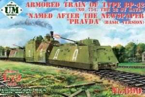 "UniModel 1/72 Armoured Train Type BP-43 ""Pravda"" (No.754 of 38th SATD)"